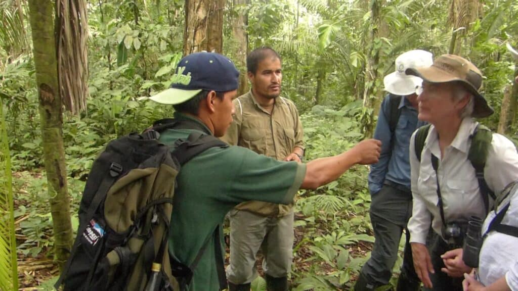 Naturalist guides explain indigenous uses of rainforest plants.  Photo by G. Sranko