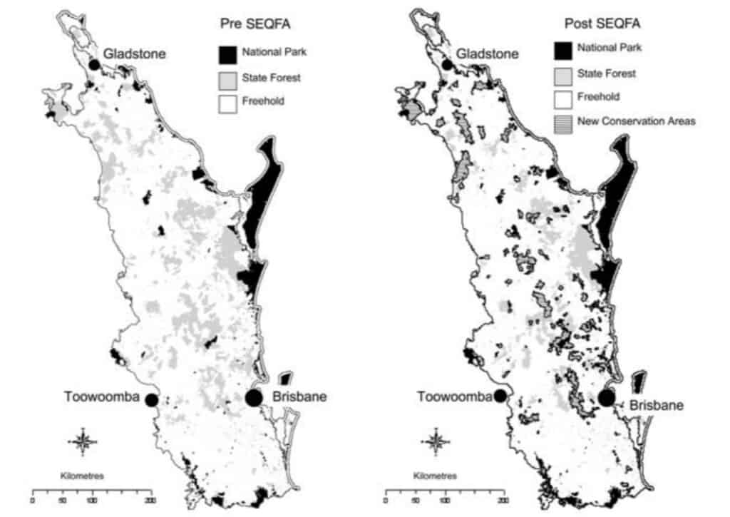 Map of South East Queensland Forest Agreement