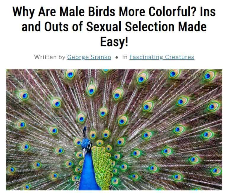 Image of article about sexual selection